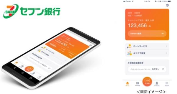 セブン銀行のスマホアプリ「Myセブン銀行」で即時取引可能 - 口座開設申込後 最短10分で手続き完了