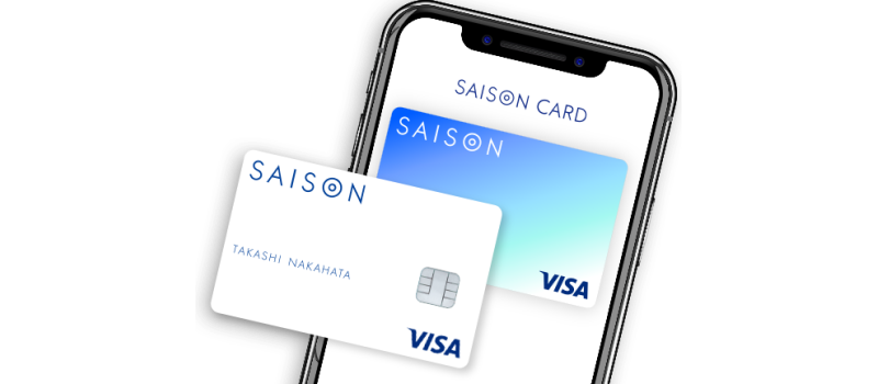 アプリ上の「セゾンデジタルカード」とプラスチック製の「ナンバーレスクレジットカード」のイメージ図