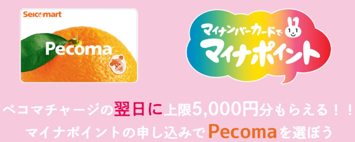 セイコーマートのペコマカード(pecoma) マイナポイントの申込みと受付開始日