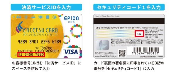 えんてつカードEPiCA(エピカ)<ポイント&プリペイドカード>のマイナポイント登録、申込みについて