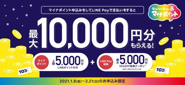 LINE Pay株式会社が、最大1万円分もらえる「マイナポイント独自キャンペーン第4弾」を開始