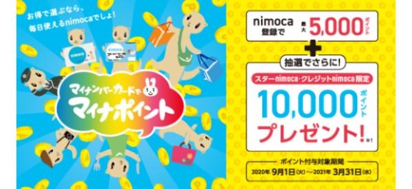 nimocaのマイナポイント登録と上乗せキャンペーン